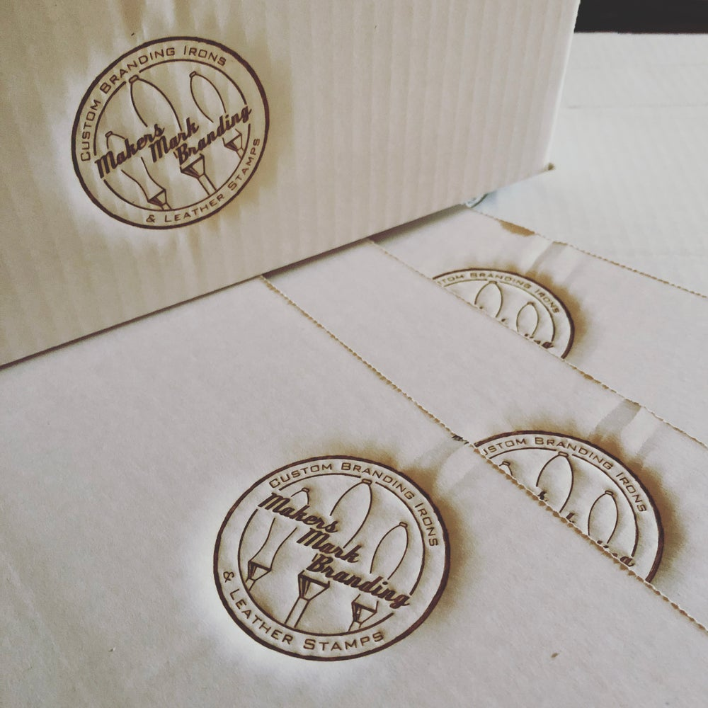 Electric hot stamp for leather, wood & more!