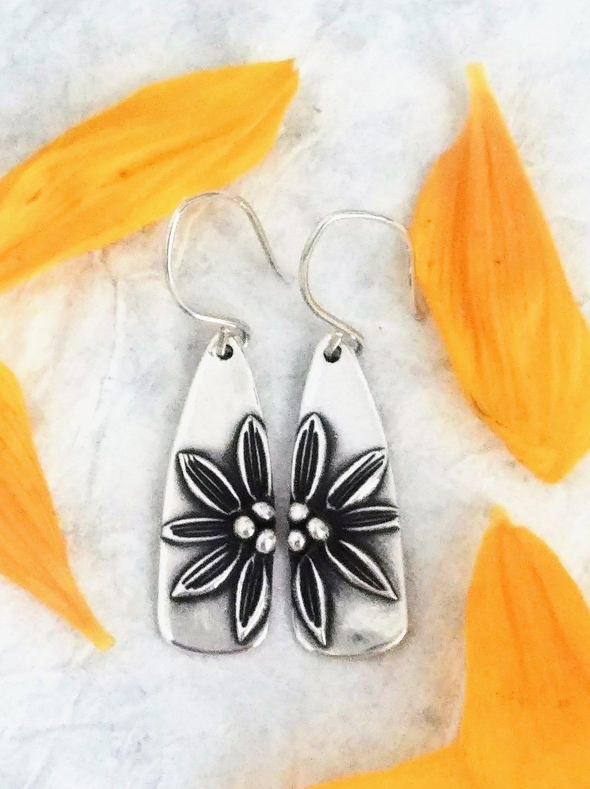 Image of Balsamroot Sunflower Earrings