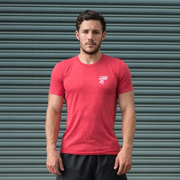 Image of Jacked Gymnastics Tri-Blend Tee Red