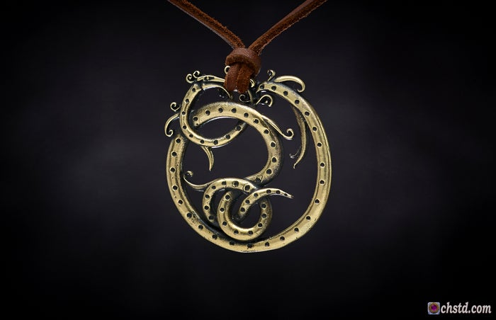 CELTIC SERPENT : FUTHARK RUNES  Protect and Safe amulet