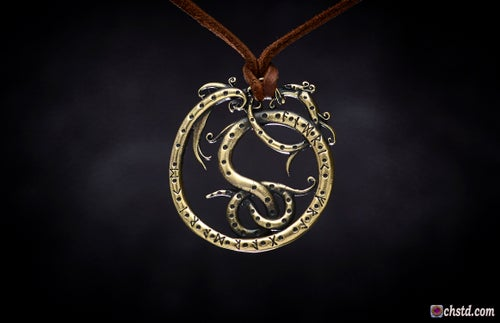 Image of CELTIC SERPENT : FUTHARK RUNES  Protect and Safe amulet