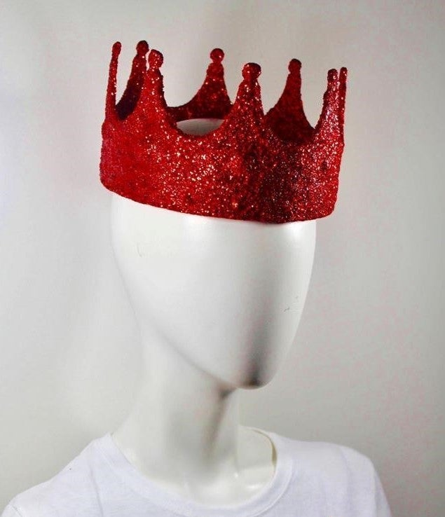 Image of Red Glitter Crown