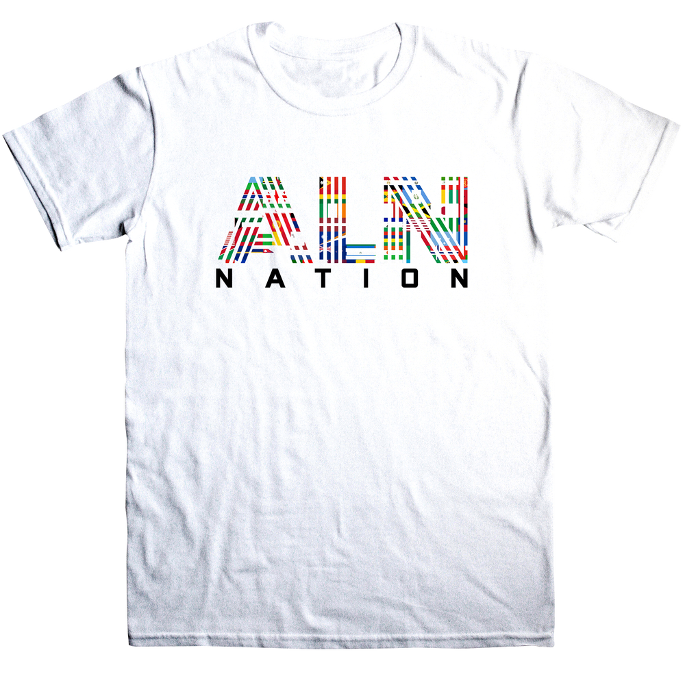 Image of ALN Nation Unisex White T-Shirt
