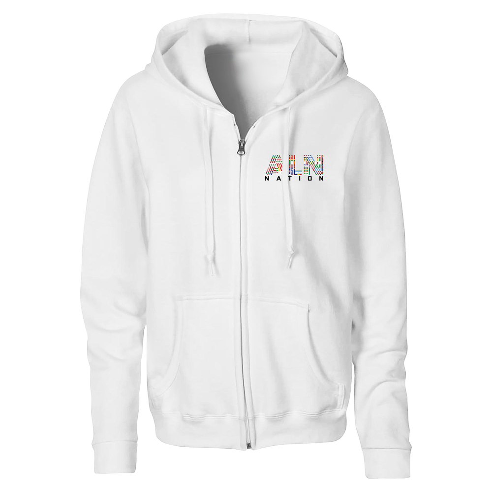 Image of ALN Nation Unisex White Sweaters