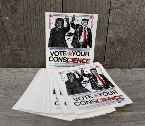 Image of Vote Your Conscience - Men's or Women's cut Tee
