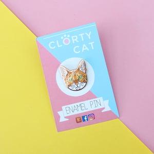 Image of Bengal cat, hard enamel pin - rose gold plating - cat breed - cat pin - cat gift - lapel pin badge