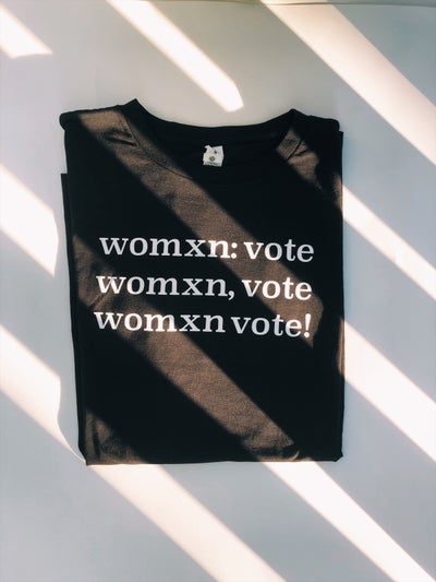 Image of womxn vote unisex tees