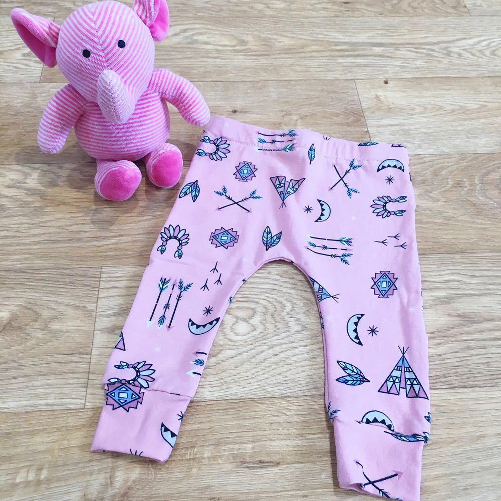Image of Pink Village Leggings