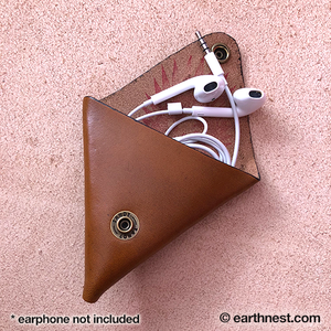 Image of Triangle Leather Coin Purse