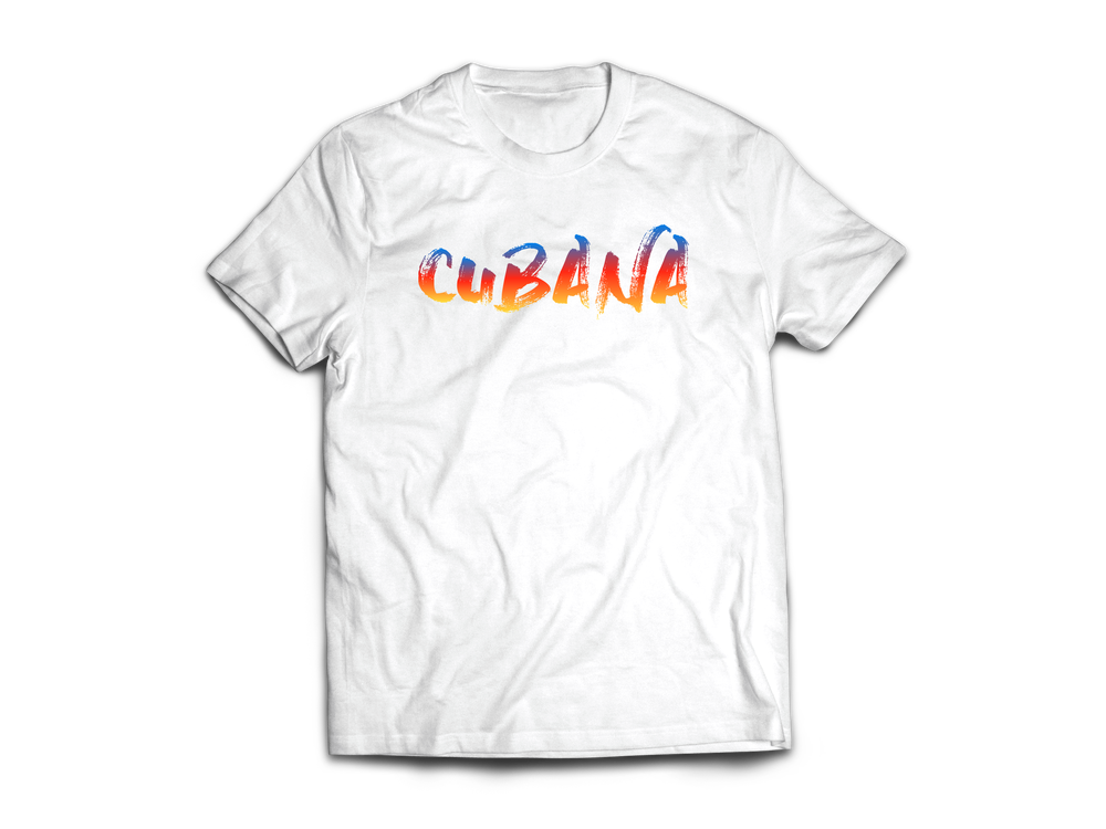 Image of CUBANA White & Sunset T-Shirt
