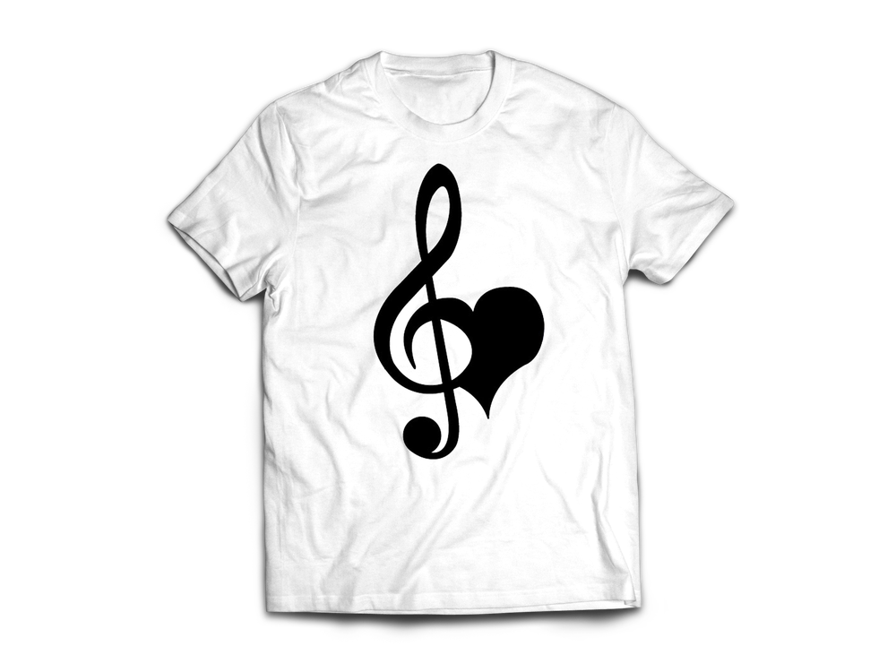 Image of USH Love & Music White T-shirt
