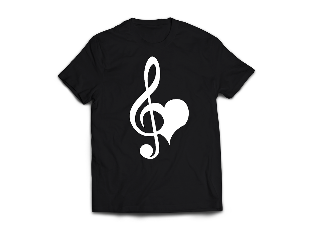 Image of USH Love & Music Black T-shirt