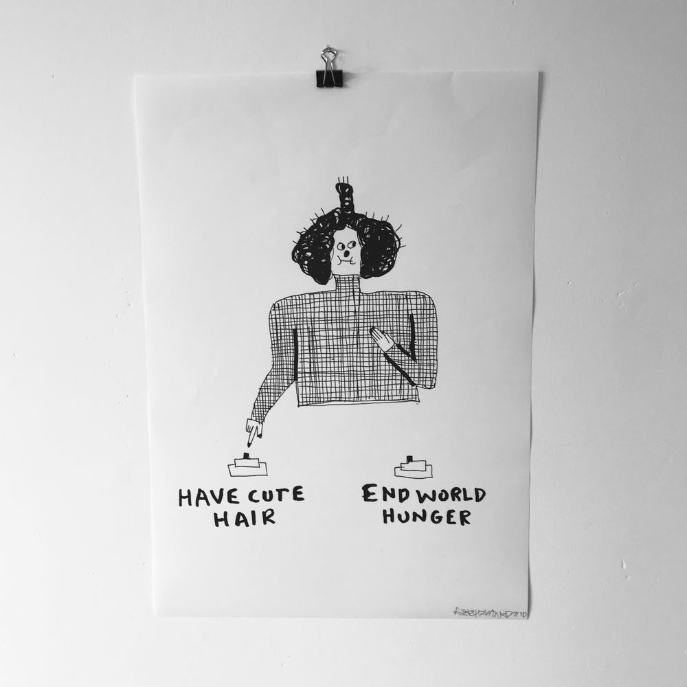 Image of 'Have Cute Hair...' A3 print