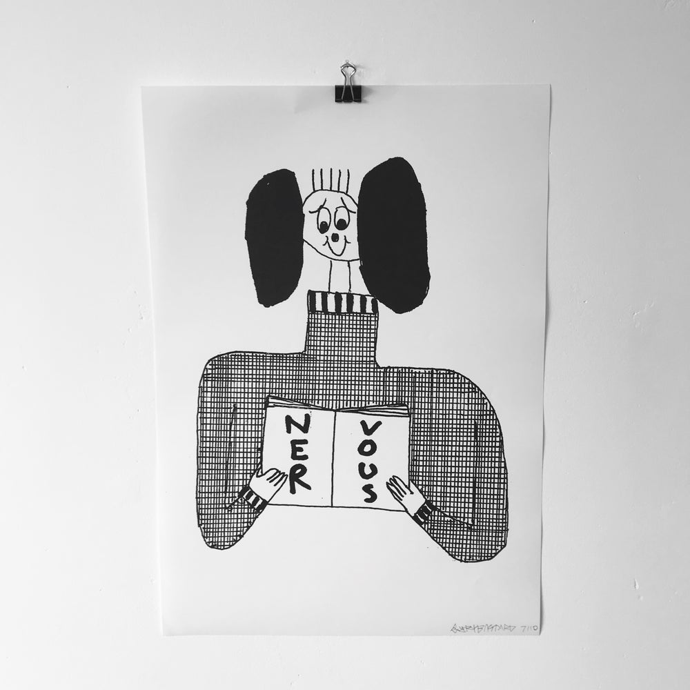 Image of 'Nervous' A3 print