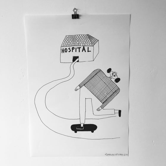 Image of 'Hospital' A3 print