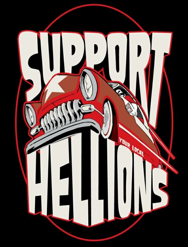 Image of Hellions Support Shirt (Texas Star Car)
