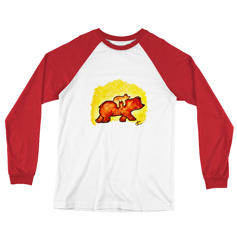 Image of Bear Long Sleeve Baseball T-Shirt