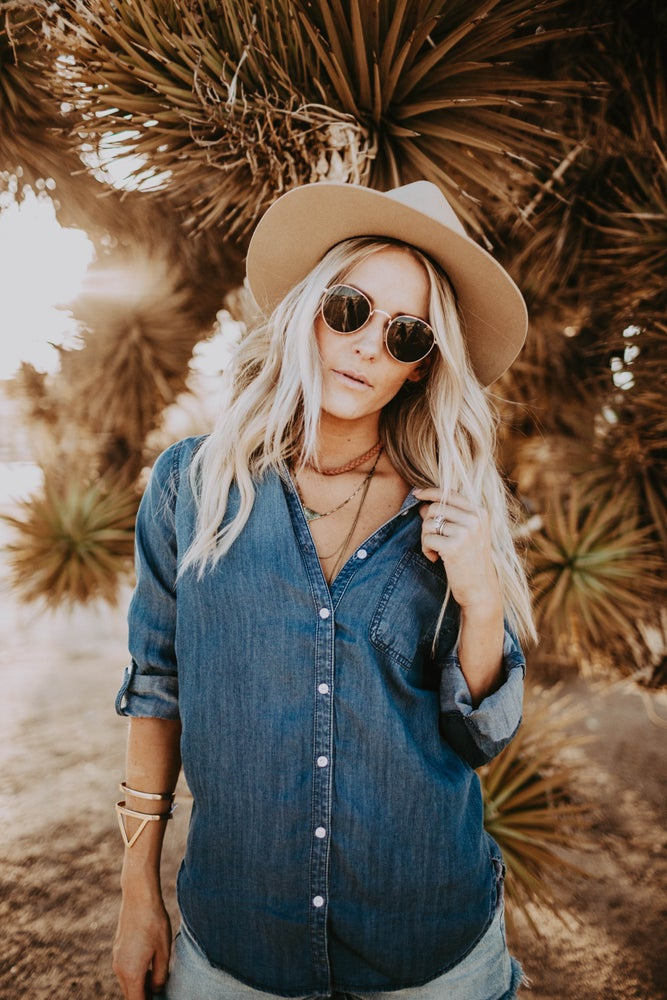 Image of Chambray Jean Top