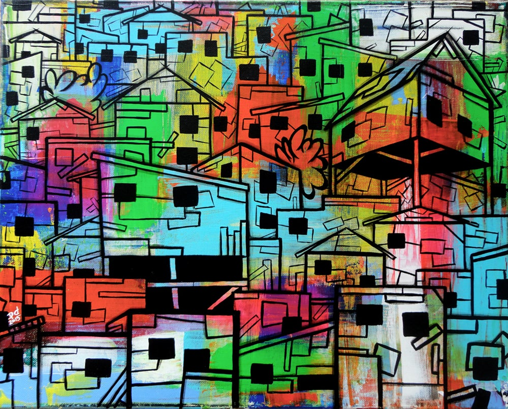 "Image of ""sLum #2"" Original Painting"