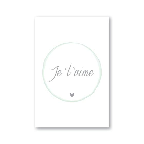 Image of Carte JE T'AIME (avec enveloppe)