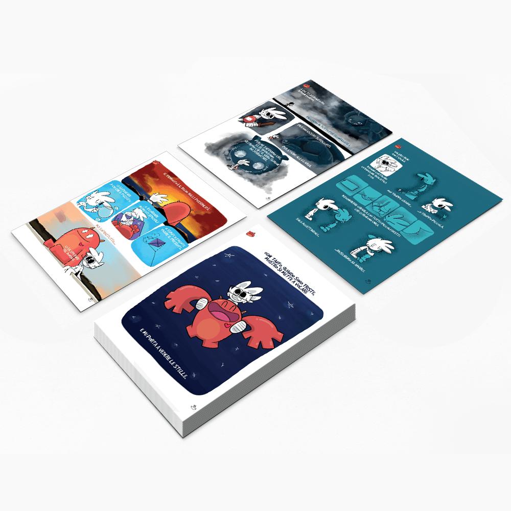 "Image of Bundle Cartoline ""Vita con Mostro"""