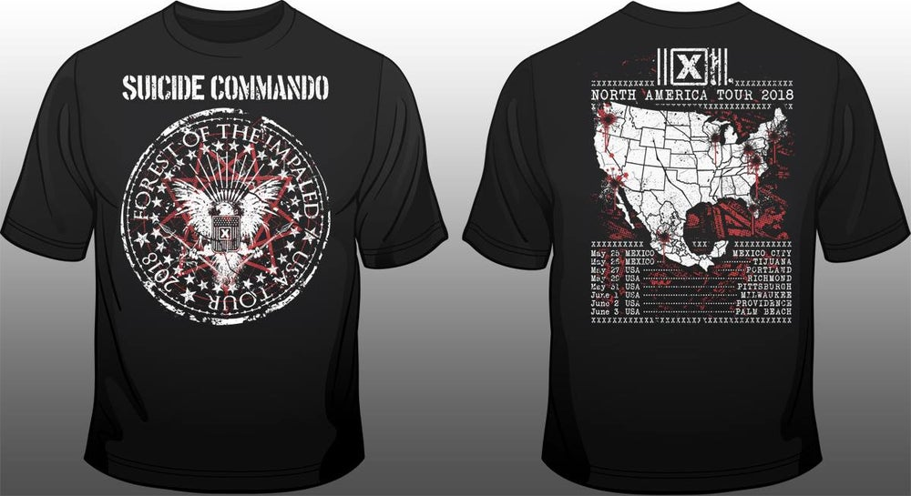 Image of Forest of the impaled USA 2018 tourshirt