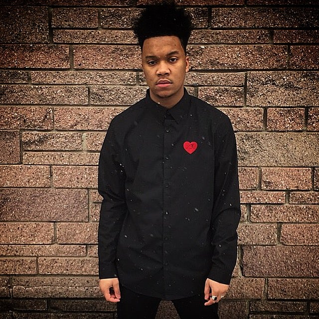 "Image of Black ""Love...period!"" Button Up"