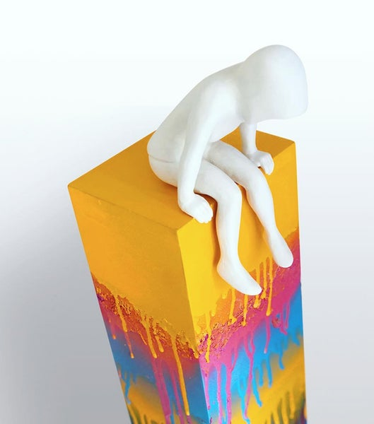 Image of 'See you soon' - Porcelain and 24ct gold leaf on hand painted plinth