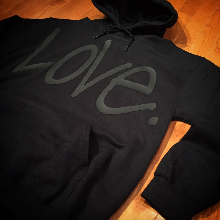 "Image of Stealth Black ""Love...period!"" Hoodie"