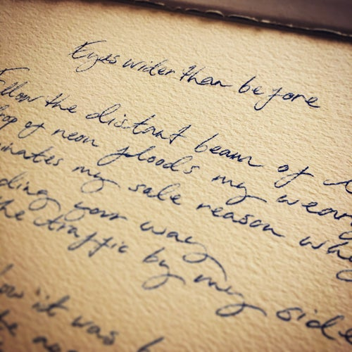 Image of Handwritten lyric sheets - Songbook