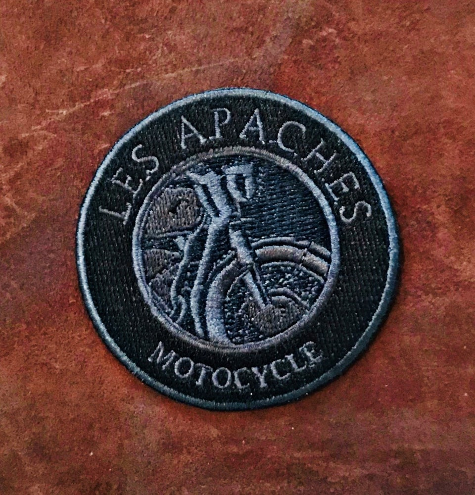 Image of Les Apaches MOTO Patch Black