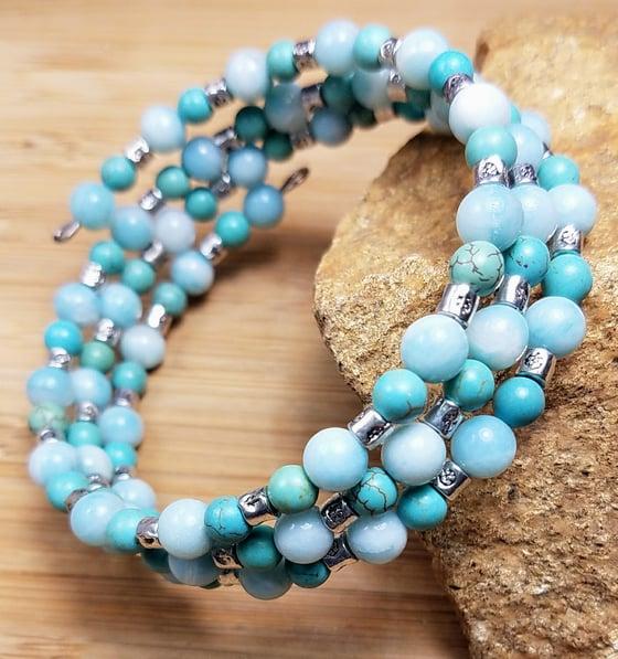 Image of Summer Blues Wrap Bracelet