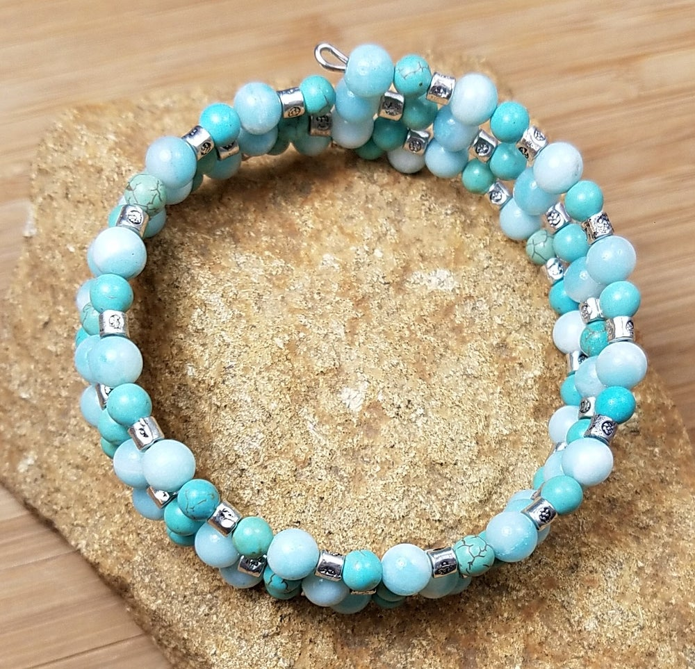 Image of Summer Blues Wrap Bracelet