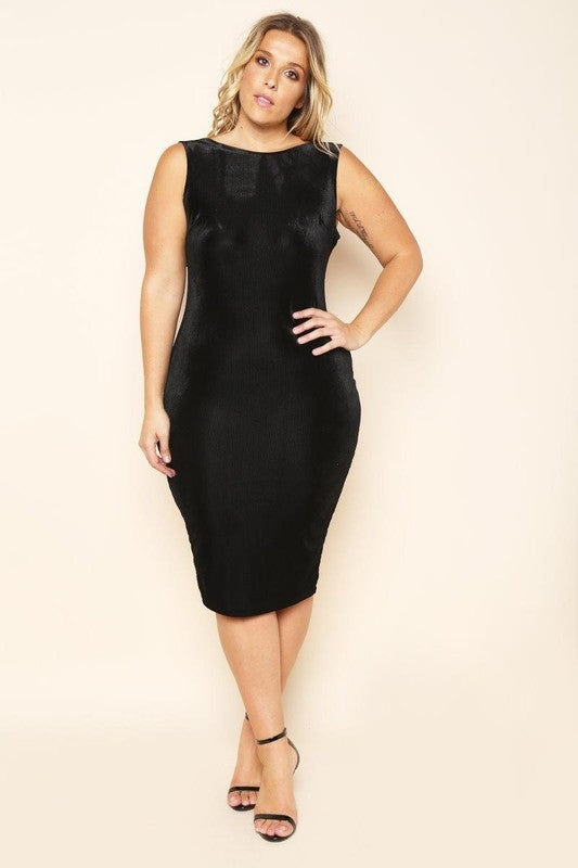 Image of Black sexy plus size dress