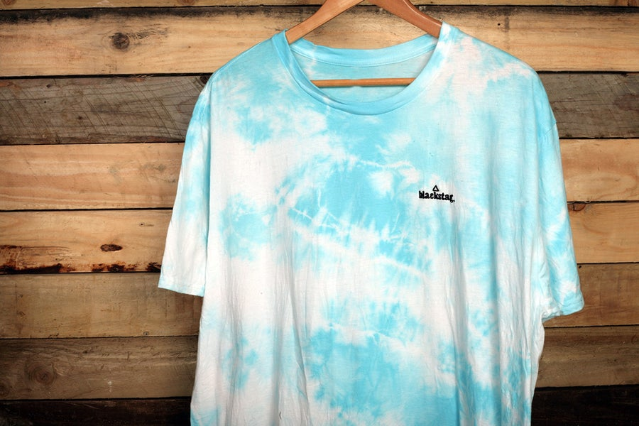 Image of CUSTOM SHOP Blue TieDye tee