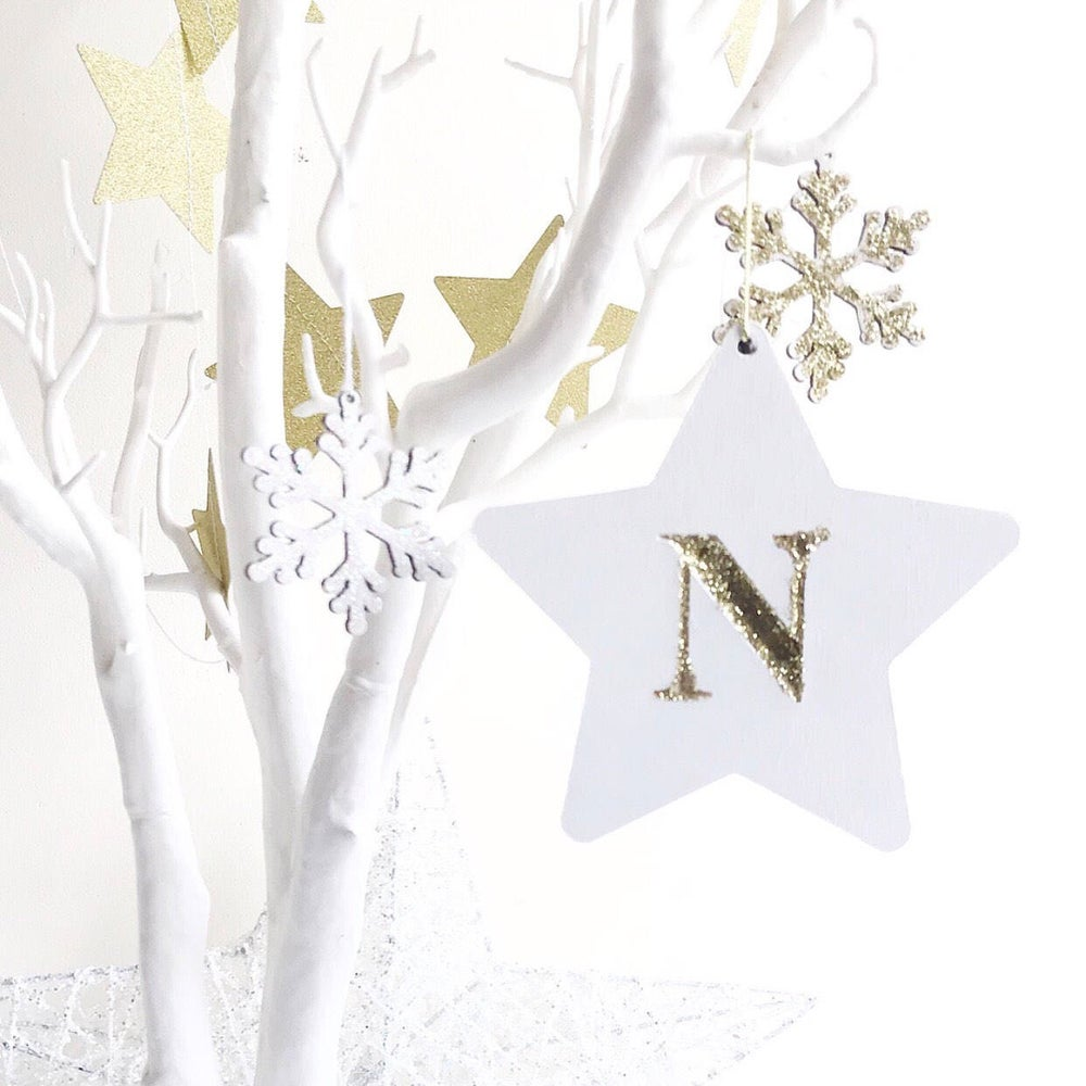 Image of INITIAL HANGING STAR ORNAMENT