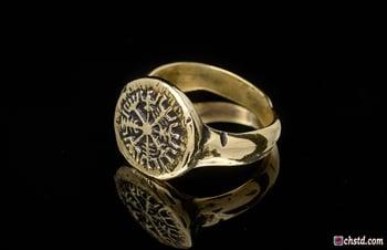 Image of VEGVISIR RING :: VIKING COMPASS :: VIKING RING