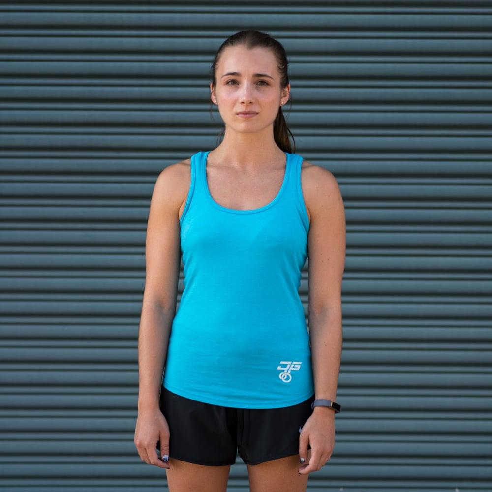 Image of Women's Jacked Gymnastics Vest - Galapogas Blue