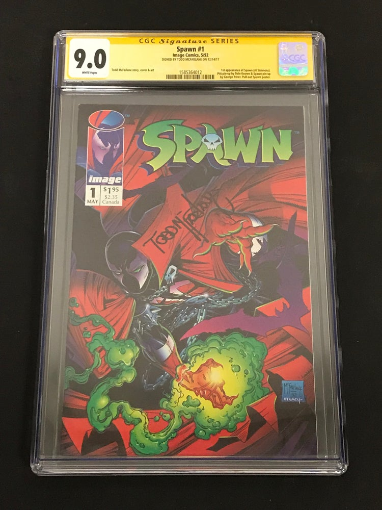 Image of Spawn #1 CGC 9.0 Signed by Todd McFarlane!