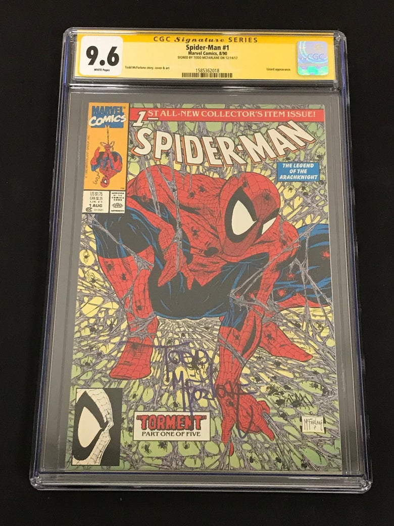 Image of Spider-Man #1 Tormet 1990 CGC 9.6 Signed by Todd McFarlane