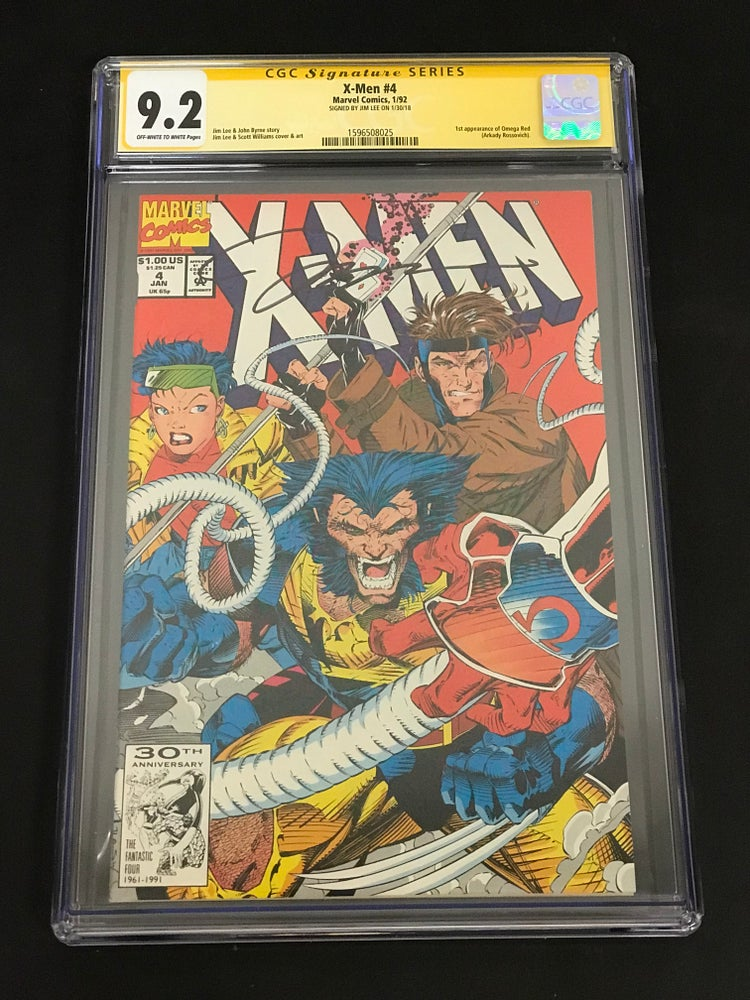Image of X-Men #4 (1st Omega Red) CGC 9.2 Signed by Jim Lee!