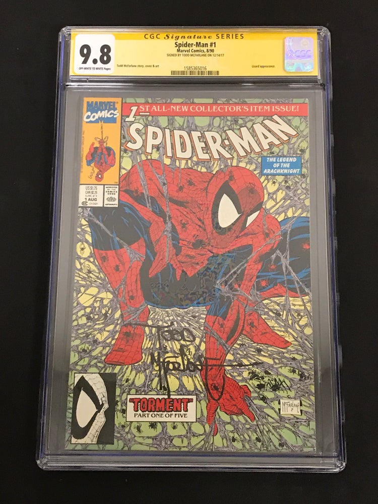 Image of Spider-Man #1 1990 Tormet CGC 9.8 Signed by Todd McFarlane!