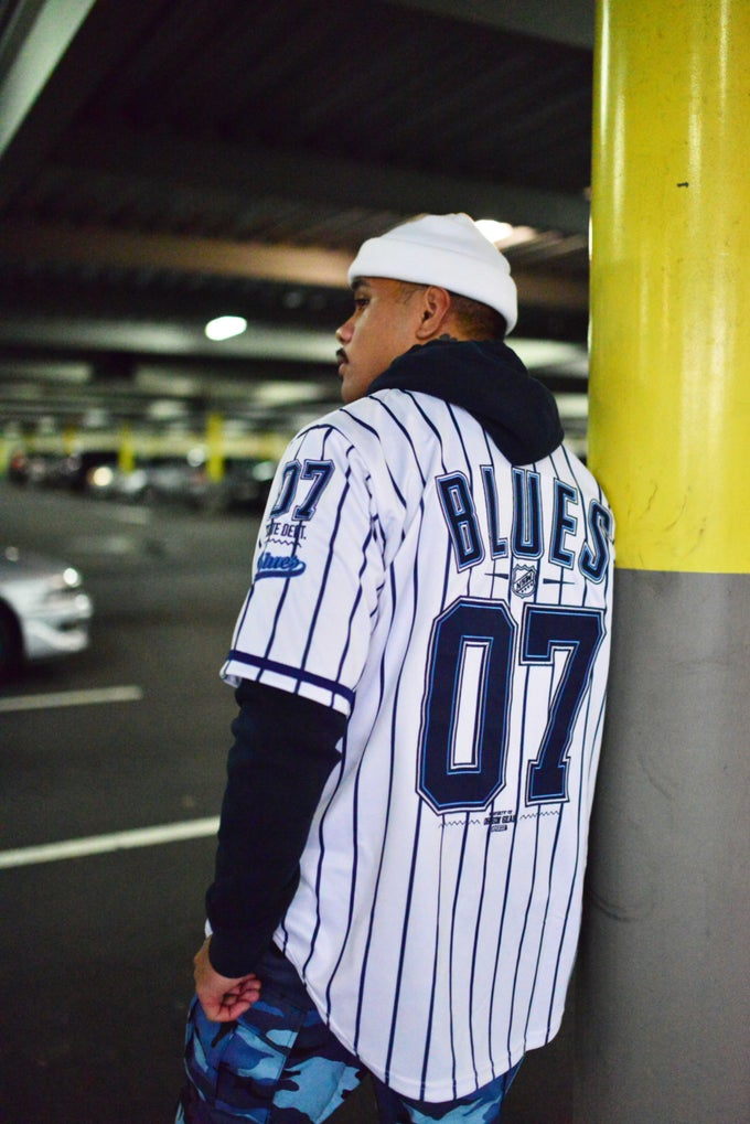 Image of NSW_BLUES PIN STRIPE BASEBALL JERSEY