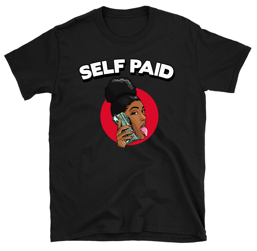 Image of Self Paid (Black T-Shirt)