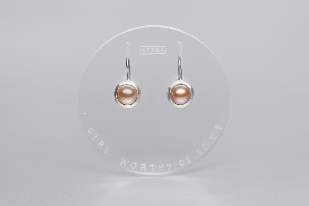 Image of silver earrings with pearls PUELLA AMANDA