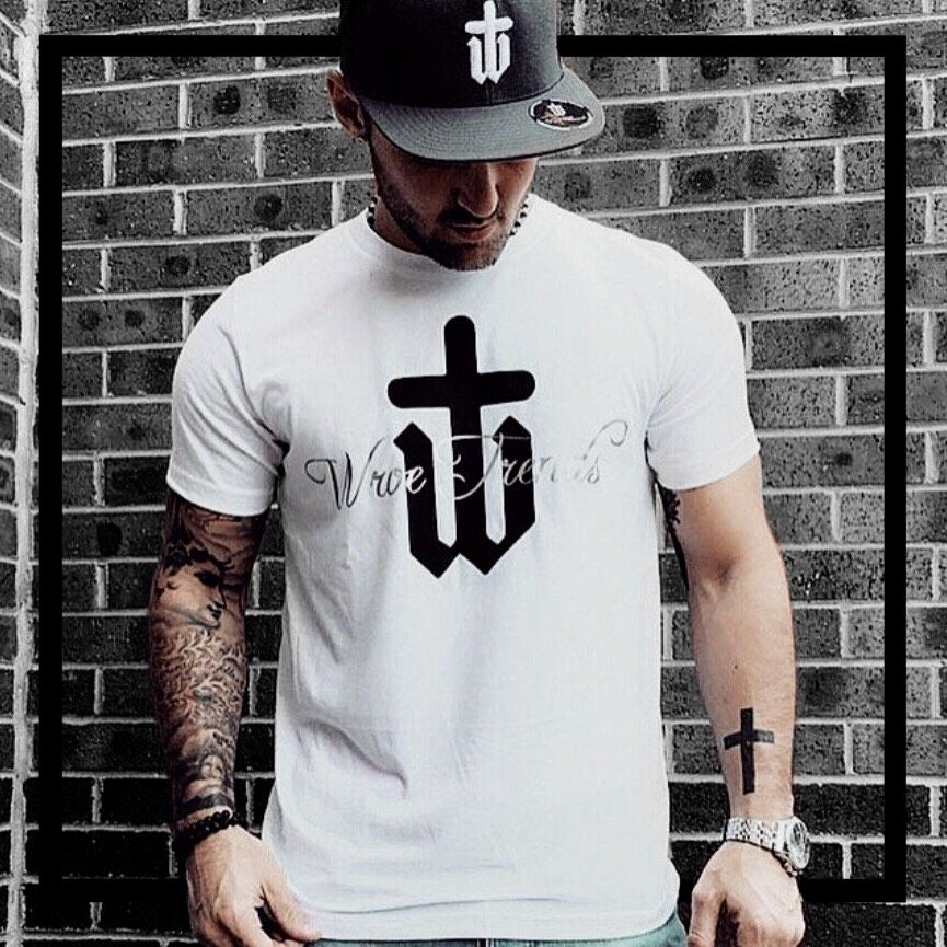 Image of WHITE SILVER LINING TEE