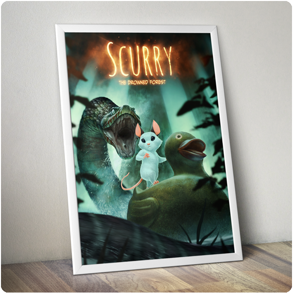 """Image of Scurry: The Drowned Forest 32"""" X 24"""" Poster"""