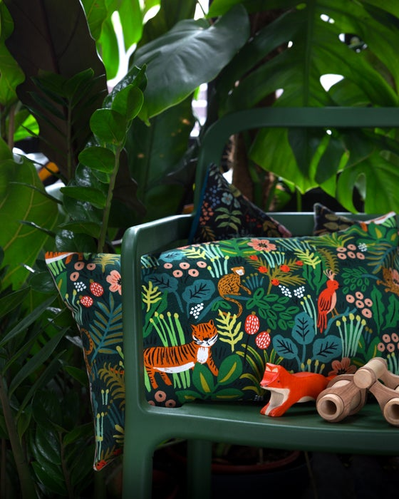 Image of Coussin JUNGLE NORA // Tissu Rifle Paper Co