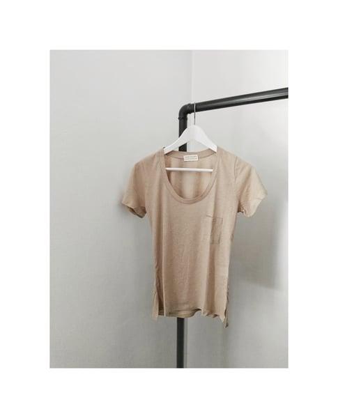 Image of NONCHALANTE Linen Ecru Tshirt