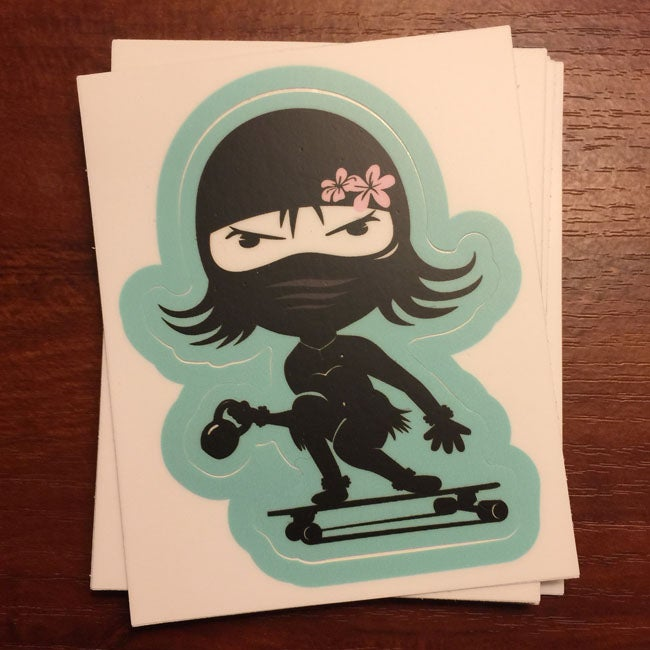 Image of Hula Skater Kettlebell Sticker Kiss Cut
